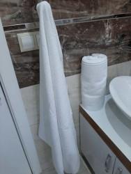 Otel Banyo Havlusu Büyük (Boy 6 ad.) Beyaz 90X145 cm - Thumbnail