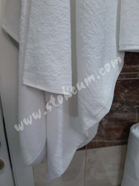 Otel Banyo Havlusu Büyük (Boy 6 ad.) Beyaz 90X145 cm