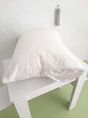 Kapitoneli Otel Yastık Koruyucu Alez 50x70 cm Beyaz 12 ad