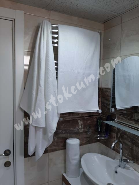 Otel Banyo Havlusu Büyük Boy Beyaz 90X145 cm 6 ad.